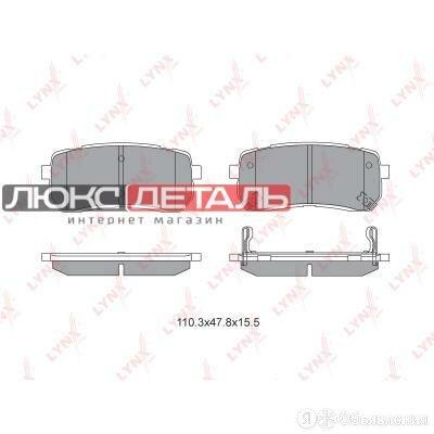 LYNXAUTO BD3626 Колодки тормозные дисковые  зад   по цене 1072₽ - Тормозная система , фото 0