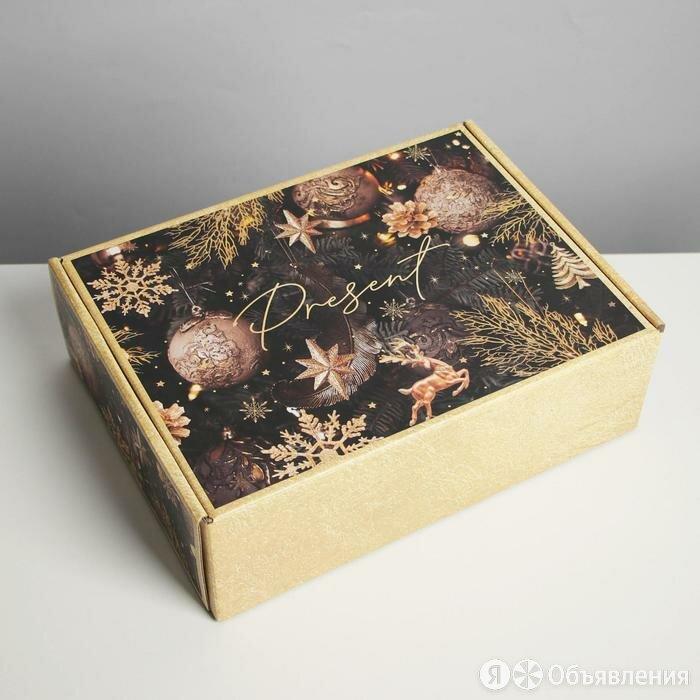 Коробка складная «Present», 30,7 × 22 × 9,5 см по цене 367₽ - Корзины, коробки и контейнеры, фото 0
