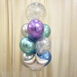 Воздушные шары - Букет из шаров хром, 0