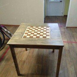 Столы и столики - Шахматный стол деревянный с фигурами, 0