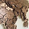 Деревянная карта мира с гравировкой стран, столиц и гидрографии рек по цене 19500₽ - Картины, постеры, гобелены, панно, фото 6