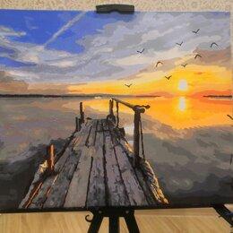 """Картины, постеры, гобелены, панно - Готовая картина по номерам """"Рассвет на пристани"""", 0"""