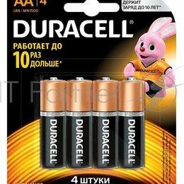 Батарейки - Батарея Duracell Basic Cn Lr6 4bl Aa  4шт, 0