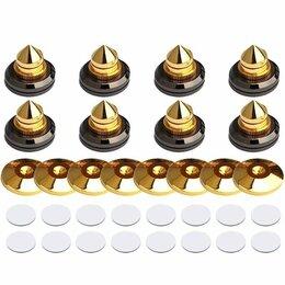 Кронштейны и стойки - Акустические шипы с дисками 8 штук (на 2 ас), 0