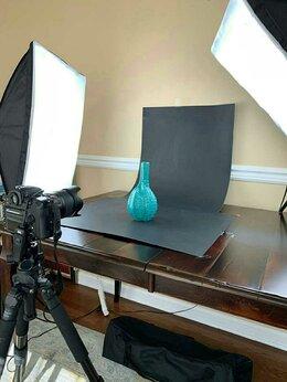 Фотовспышки - Софтбоксы 2шт +лампы 8шт(5500K) + сумка, 0