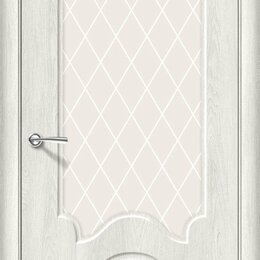 Межкомнатные двери - Межкомнатная дверь Винил Скинни-33 Casablanca   White Сrystal, 0