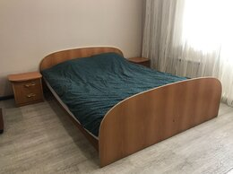 Кровати - Двуспальная кровать с подъёмным механизмом, б/у, 0