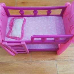 Игрушечная мебель и бытовая техника - Кукольная кровать, 0