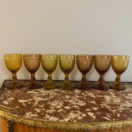 Бокалы и стаканы - Набор бокалов 7 шт янтарное стекло , 0