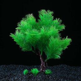 Растения для аквариумов и террариумов - Растение искусственное аквариумное, 18 х 6,5 х 27 см (комплект из 2 шт.), 0