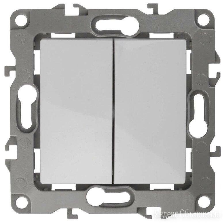 Выключатель двухклавишный ЭРА 12 10AX 250V 12-1004-01 Б0014651 по цене 183₽ - Электроустановочные изделия, фото 0