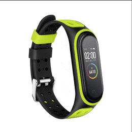 Ремешки для часов - Ремешок для фитнес-браслета Xiaomi Mi Band 6 с застежкой (салатовый), 0