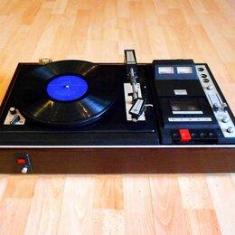 Проигрыватели виниловых дисков - Проигрыватель винила Мелодия 105 - стерео 02 + магнитофон., 0