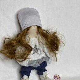 Мягкие игрушки - Интерьерная кукла в джинсах, 0