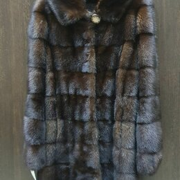 Шубы - Шуба норковая с капюшоном 42-44 , 0