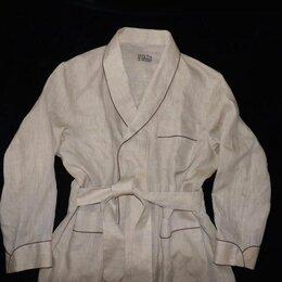 Домашняя одежда - Шикарнейший мужской халат, Smyth & Gibson, 100% лен, размер XL, новый, 0