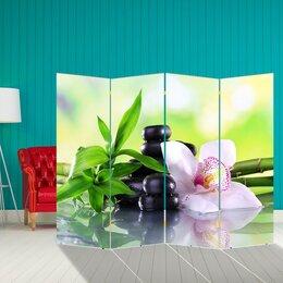 """Ширмы - Ширма """"Орхидея с бамбуком"""", 200 × 160 см, 0"""