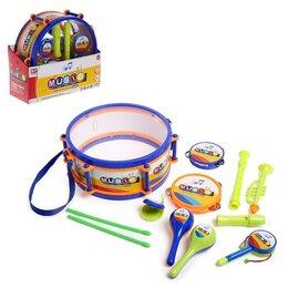 Детские наборы инструментов - Набор музыкальных инструментов «Оркестр», 11 предметов, 0