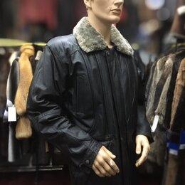 Куртки - Куртка мужская натур.кожа подкладка овчина р.50-52 /10732/, 0