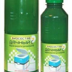 Аксессуары, комплектующие и химия - Биосостав Дачный С для сливных бачков биотуалетов 1л, 0