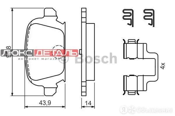 BOSCH 0986424528 Колодки тормозные дисковые  зад   по цене 1771₽ - Тормозная система , фото 0