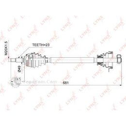 Электроустановочные изделия - LYNXAUTO CD6705 Привод левый , 0