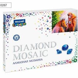 Рукоделие, поделки и сопутствующие товары - Мозаика алмазная по номерам 40*50 М-10267 ПАРА ЛОШАДЕЙ, 0