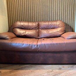 Диваны и кушетки - Кожаный диван кровать, 0