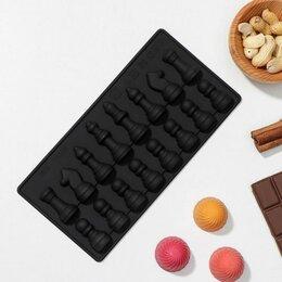 Формы для льда и десертов - Форма для шоколада 'Шахматы', 19,5x10 см, 0