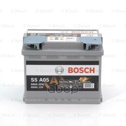 Аккумуляторы и комплектующие - Аккумуляторная Батарея 60ah Bosch S5 Agm 12v 60ah 680a Etn 0(R+) B13 242x175x..., 0