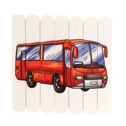 Пазлы - Пазлы из палочек «Транспорт» размер пазла: 13 × 13,5 см, 0