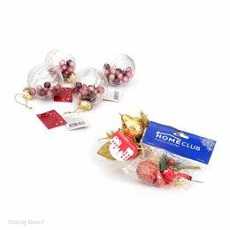 Ёлочные украшения - Новогодние игрушки 6 шт. (новые), 0