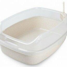 Биотуалеты - Туалет прямоугольный белый большой с бортом и совком 62*46*25, 0