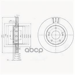 Тормоза - Диск Торм. Delphi арт. BG4038, 0