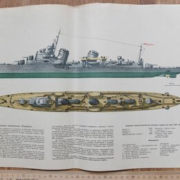 Постеры и календари - плакат лидер эскадренных миноносцев Ташкент, 0