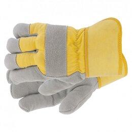 Одежда - Перчатки спилковые комбинированные, усиленные, утолщенные, размер XL, Си..., 0