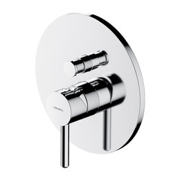 Краны для воды -  Встраиваемый смеситель для ванны Omnires Y Y1235CR (хром), 0