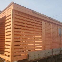 Готовые строения - Бытовка деревянная с дровником А-620, 0