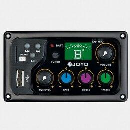Оборудование для звукозаписывающих студий - Joyo EQ-MP3 3-полосный эквалайзер с тюнером и MP3 плеером, 0