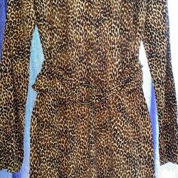 Платья - Emozioni Германия трикотажное платье вискоза-стрейч 46 леопардовый принт, 0