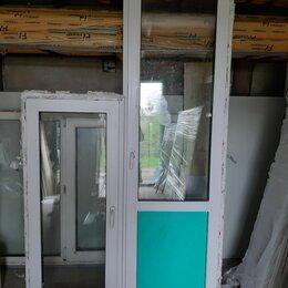 Готовые конструкции - Пластиковое окно (б/у) ш 635 в 1480, дверь ш 700 в 2200, 0