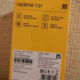 Мобильные телефоны - Realme c21 3/32 гб черный новый гарантия, 0