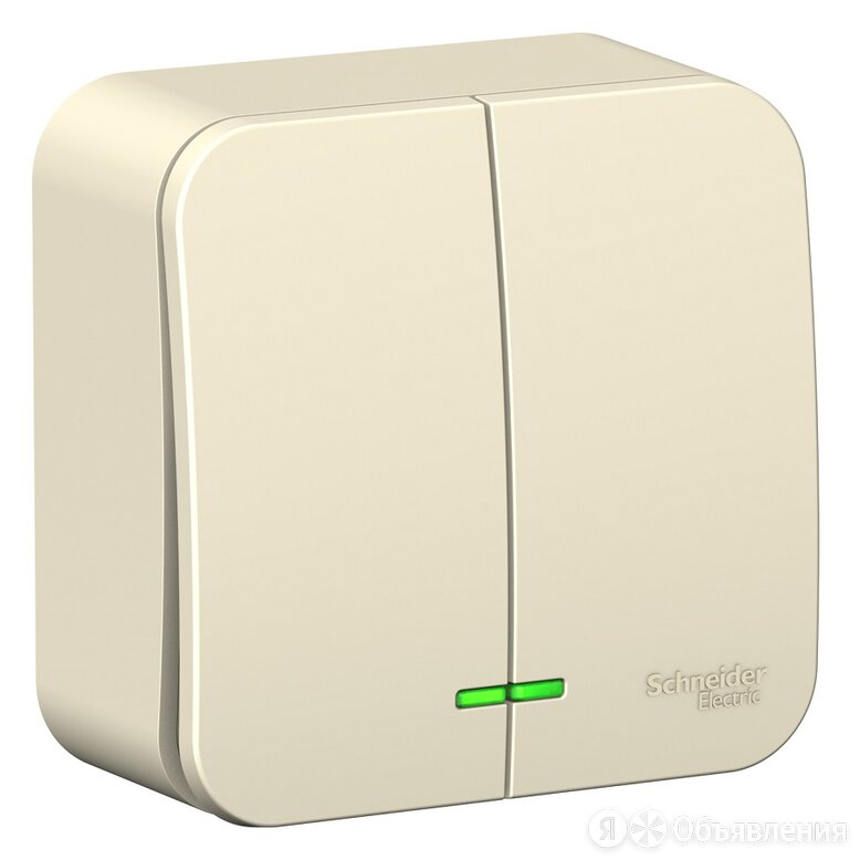 Выключатель Schneider Electric Blanca двухклавишный с подсветкой, открытый мо... по цене 223₽ - Электроустановочные изделия, фото 0