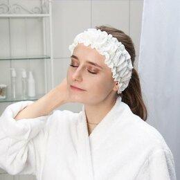 Средства для интимной гигиены - Набор фиксаторов для волос с двумя резинками одноразовый Чистовье, спанлейс, ..., 0