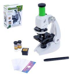Детские микроскопы и телескопы - Микроскоп детский 'Юный исследователь', с подсветкой и аксессуарами, 9 предметов, 0