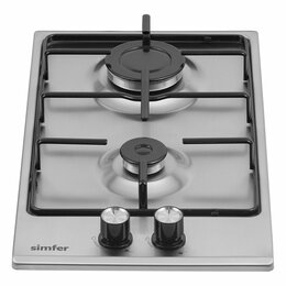 Плиты и варочные панели - Газовая варочная панель 2 конфорки с автоподжигом, 0