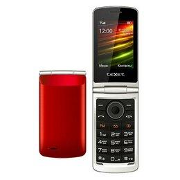 Проводные телефоны - Телефон teXet TM-404 (красный, Red), 0