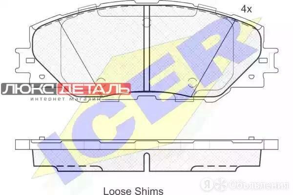 ICER 181762 181762_колодки дисковыепередние\ Toyota RAV IV 2.0VVT-i/2.2D-4D 06  по цене 1686₽ - Тормозная система , фото 0
