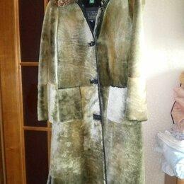 Пальто - Женское пальто (мутон), 0