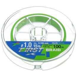 Леска и шнуры - Леска плетёная Intech First Braid PE X4 0,165 мм, 100 м, 0
